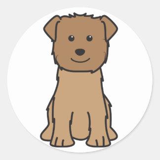 Glen of Imaal Terrier Dog Cartoon Round Sticker