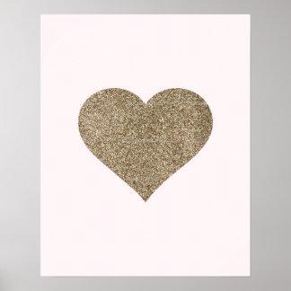 Glitter Heart Nursery Print