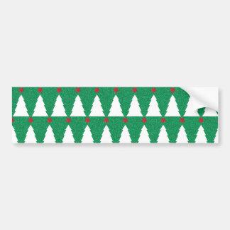 Glittery Christmas Trees Bumper Sticker