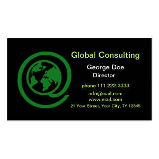Global Consulting Pack Of Standard Business Cards