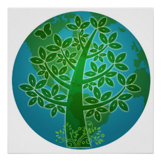 Go Green Eco Tree Earth and Environment Friendly I Poster