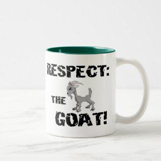 Goat Pet Farm Animal Respect Goat Husband Dad Two-Tone Mug