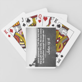 """God Quotes: John 14:6 -- """"The Way and the Truth"""" Playing Cards"""