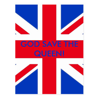 GOD SAVE THE QUEEN! POSTCARD