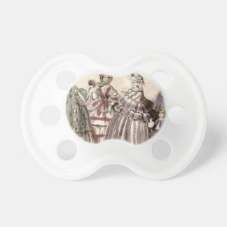 Godey's Ladies Book Victorian Fashion Plate Weddin Baby Pacifiers