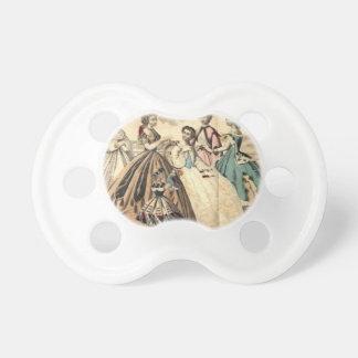Godey's Ladies Book Victorian Fashion Plate Weddin Pacifier