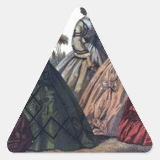 Godey's Ladies Book Victorian Fashion Plate Weddin Triangle Sticker