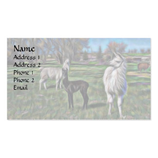Gogh llama - Personalized Pack Of Standard Business Cards