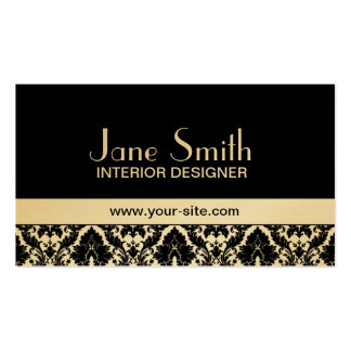 Gold Damask Floral Elegant Stylish Classy Pack Of Standard Business Cards