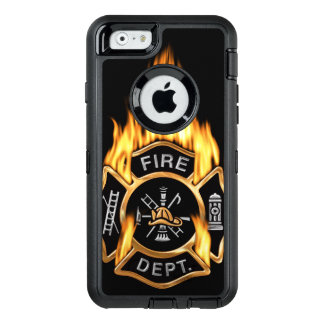 Gold Fire Department Flaming Badge OtterBox iPhone 6/6s Case
