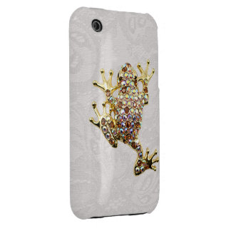 Gold Frog Jewel Photo Paisley Lace iPhone 3G Case