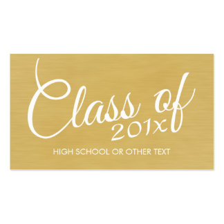 Gold Graduation Class of with Custom Year School Pack Of Standard Business Cards