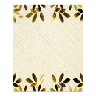 Gold Leaves Border Two Sided Flyer