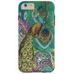 Gold Paisley Peacock & Feather You Choose Colour Tough iPhone 6 Plus Case