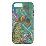 Gold Paisley Peacock & Feathers iPhone 7 Plus Case