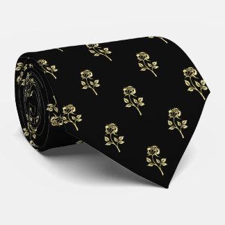 Gold Rose Polka Dot Pattern Tie