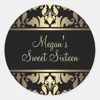 Gold Royal Damask Sticker