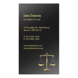 Gold Scales of Justice   Attorney at Law Pack Of Standard Business Cards