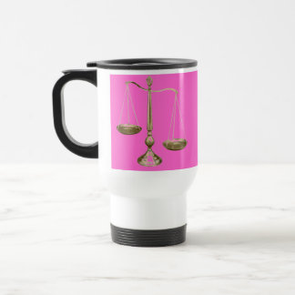 gold scales of justice stainless steel travel mug