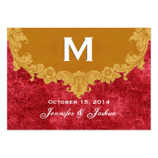 Gold Vintage Ornate Curlicue Frame Monogram Weddin Pack Of Chubby Business Cards