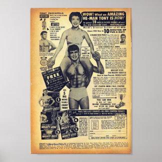 Golden Age Comic Art - Vintage Bodybuilding Advert Poster