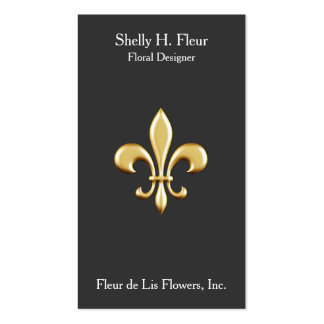 Golden Fleur De Lis Pack Of Standard Business Cards