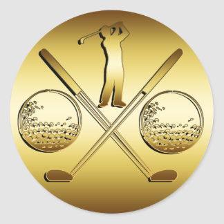 GOLDEN GOLF ROUND STICKER