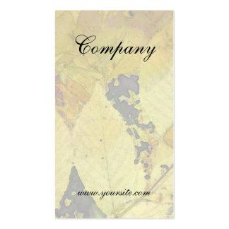 Golden Leaf Light Pack Of Standard Business Cards