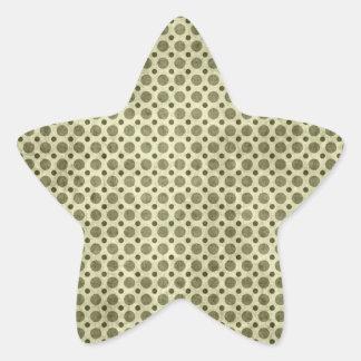 Golden Polka Dot Grunge Sticker