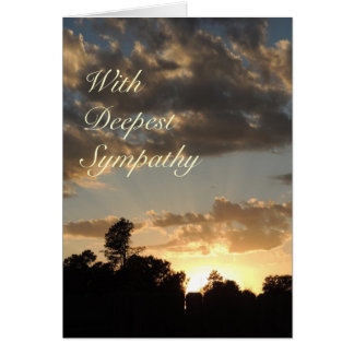 Golden Sunset with God Rays - Sympathy Card