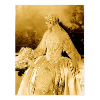 Golden Vintage Bride Photography Postcard
