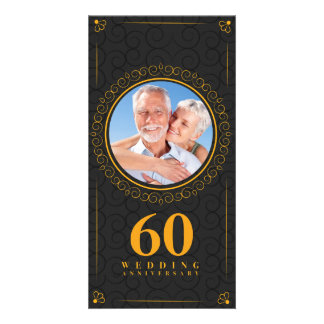 Golden wedding anniversary template personalized customised photo card