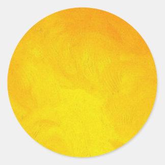 Golden Yellow - The World With Minimal Design Round Sticker