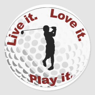 golf ball round sticker