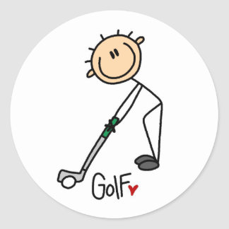 Golf Gift Round Sticker