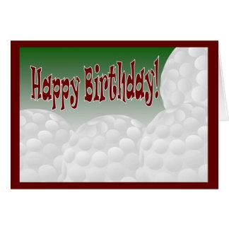 Golf - Happy Birthday from Biggest Fan! Greeting Card