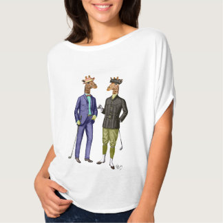 Golfing Giraffes 2 T Shirts