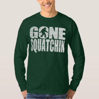 Gone Squatchin Distressed Design T-shirt