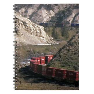 Goods Train RAILWAYS RHODE Island photography Spiral Notebooks