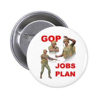 GOP, Republicans, Jobs Plan 6 Cm Round Badge