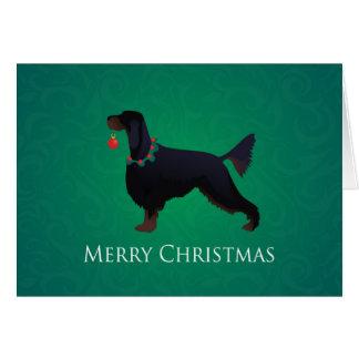 Gordon Setter Merry Christmas Design Greeting Card