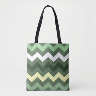 Gorgeous Green Chevron Tote Bag
