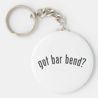 got bar bend? basic round button key ring