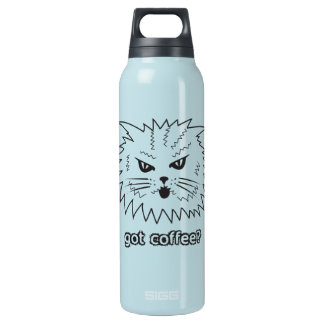 Got Coffee? Angry Kitty Thermos 0.5 Litre Insulated SIGG Thermos Water Bottle