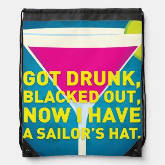 Got Drunk Drawstring Bag