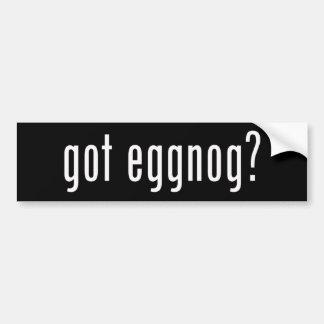 Got Eggnog? Christmas Spirit Given Liquid Form Bumper Sticker