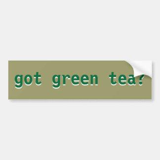 got green tea? bumper sticker