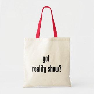 got reality show? budget tote bag