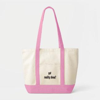 got reality show? impulse tote bag