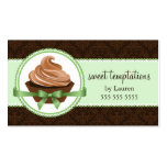 Gourmet Cupcake in Mint Bakery Business Cards
